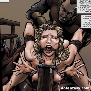 Gagged and bound hottie gets banged in - BDSM Art Collection - Pic 3