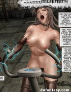 Busty babes get electrocuted if they slow down. The Slave Factory Part