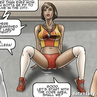 Buxom trainer shows the group a sexy - BDSM Art Collection - Pic 1