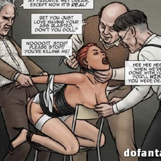 Angry roped red attendant in a rest - BDSM Art Collection - Pic 3