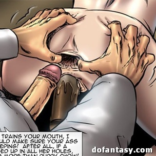 Blonde slave drinks semen after hard - BDSM Art Collection - Pic 2