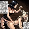 Submissive blondie assfucked with a strap-on by her mistress. Vendetta