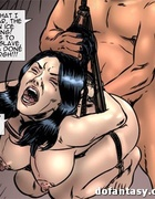 Brunette bitch ex-mistress become a common sex slave fore bondage and