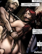 Gagged enchained slaves bound together tortured badly. Siege Of Mesta