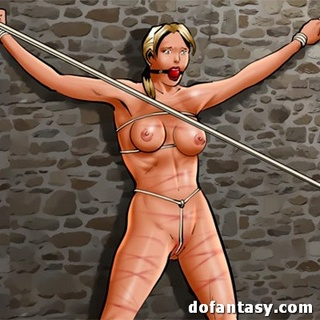 Blonde minx fucked by a big strap-on - BDSM Art Collection - Pic 2
