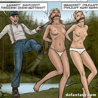 Ebony chick and two blondies don't know - BDSM Art Collection - Pic 1