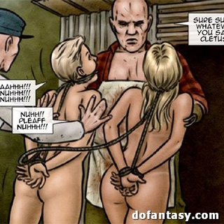 Ebony chick and two blondies don't know - BDSM Art Collection - Pic 2