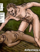 Horny hairy creature is going to fuck suspended ebony. Breeders: New Blood