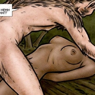Hairy creature and man in a cap fucking - BDSM Art Collection - Pic 1