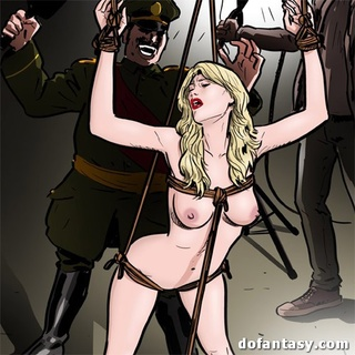 Man of arms leads a gang of perverted - BDSM Art Collection - Pic 1