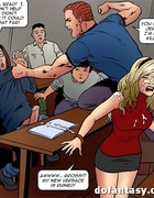 Blonde student gets gangbanged in handcuffs.…
