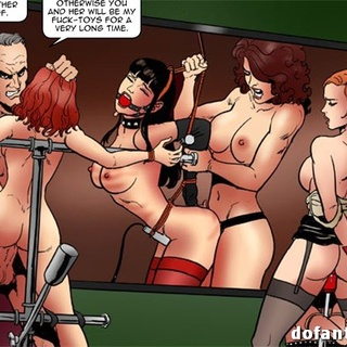 Gagged and bound babes get beaten and - BDSM Art Collection - Pic 4