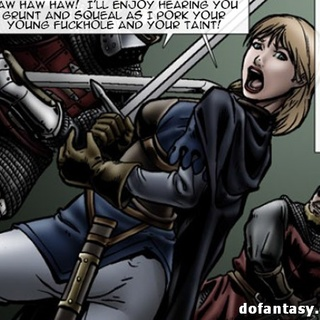 Noble toon blondie with a sword gets - BDSM Art Collection - Pic 3