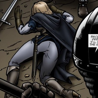 Noble toon blondie with a sword gets - BDSM Art Collection - Pic 4