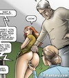 An older couple appreciates young damsel's tasty assets. Repurposed by