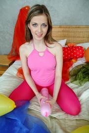 sexy teen stuffing balloons