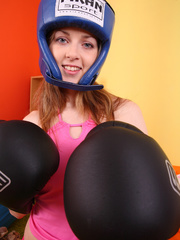 Teen hottie wearing blue head gear and black - XXXonXXX - Pic 4