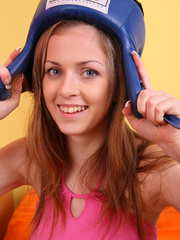 Teen hottie wearing blue head gear and black - XXXonXXX - Pic 10