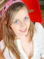 Sweet teen babe loves to tease as she takes off - XXXonXXX - Pic 2