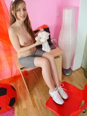 Sweet teen babe loves to tease as she takes off - XXXonXXX - Pic 9