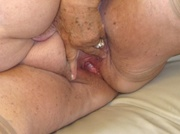 mature lady takes off