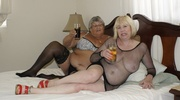 fat granny wearing black