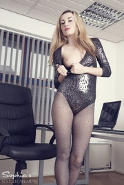 stunning blonde office lady