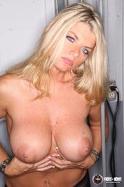 blonde babe behind bars