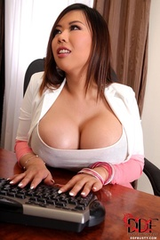 Asian big tits stockings have