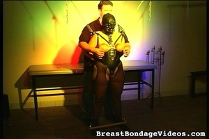 Young lady in black leather mask and sex - XXX Dessert - Picture 11