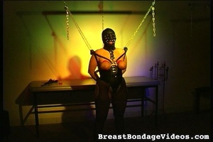 Young lady in black leather mask and sex - XXX Dessert - Picture 13