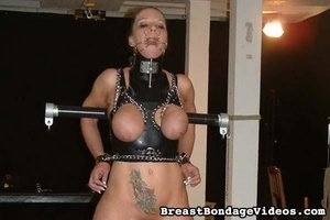 Big-breasted brunette girl got chained i - XXX Dessert - Picture 4