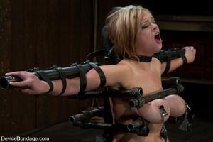 Curvy blonde slave gets her tits squeeze - XXX Dessert - Picture 7