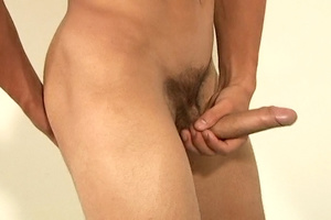 Awesome twink takes off his black sweater and jeans to jack off in bed. - XXXonXXX - Pic 20