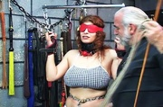 chubby redhead chained blindfolded
