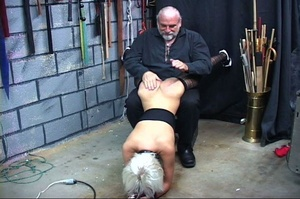 Bondaged blonde chick gets spanked hard  - XXX Dessert - Picture 9