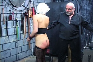 Bondaged blonde chick gets spanked hard  - XXX Dessert - Picture 10