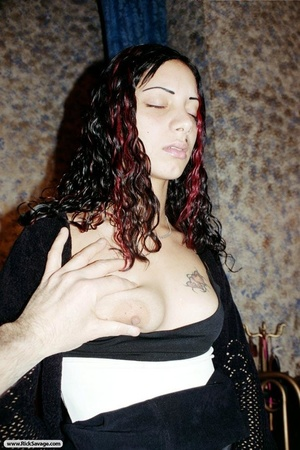 Gagged long haired Dominican slut loves  - XXX Dessert - Picture 7