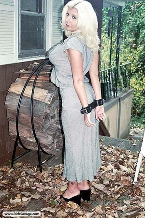 Tied up blonde MILF is ready for a rough - XXX Dessert - Picture 15