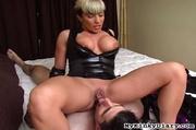 busty blonde milf gets