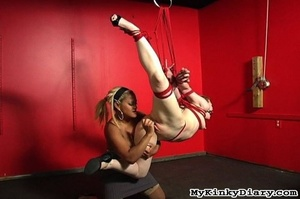 Ebony ties up a chick and pleasures her  - XXX Dessert - Picture 9