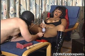Smoking Asian got pleasured by a vibrato - XXX Dessert - Picture 10