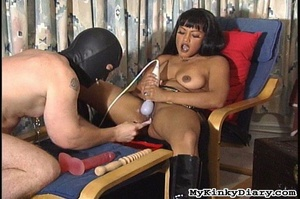 Smoking Asian got pleasured by a vibrato - XXX Dessert - Picture 14