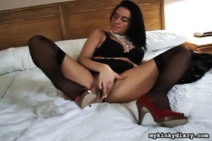 Two horny ladies in stockings play with  - XXX Dessert - Picture 2