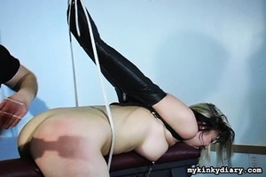 Bounded blonde chick gets wildly spanked - XXX Dessert - Picture 7