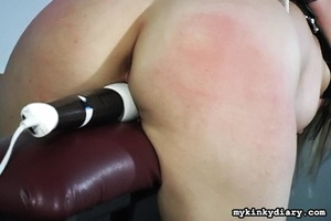 Bounded blonde chick gets wildly spanked - XXX Dessert - Picture 10