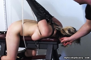 Bounded blonde chick gets wildly spanked - XXX Dessert - Picture 11