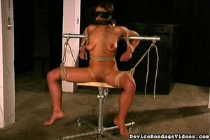 Attractive young lady gets tied up fucke - XXX Dessert - Picture 12