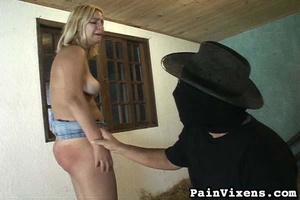 Curvy blonde slut gets spanked in the du - XXX Dessert - Picture 16