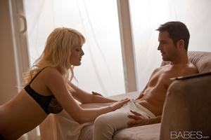 Hot blondie in black lingerie pleasing her boyfriend - XXXonXXX - Pic 4
